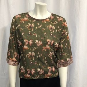 NWT Zara Collection High Low Floral Top Sz S